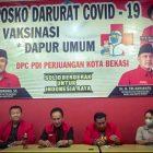 Konferensi pers Badan Bantuan Hukum dan Advokasi Rakyat (BBHAR) DPC PDI Perjuangan Kota Bekasi mengenai putusan Pengadilan Negeri Kota Bekasi menolak gugatan Wasimin Anggota DPRD Kota Bekasi. Rabu (13/10/2021)